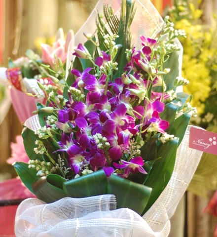 Bó hoa lan sang trọng dành tặn những mẹ có địa vị xã hội cao sang