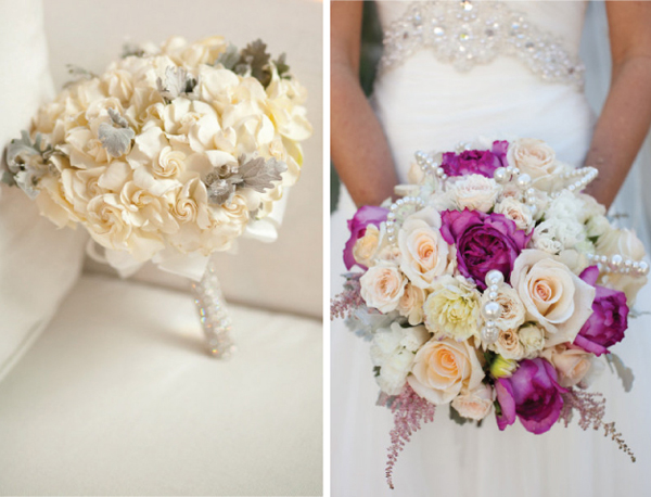 Bó hoa tròn cũng được nhiều cô dâu lựa chọn vì tính tiện dụng của nó