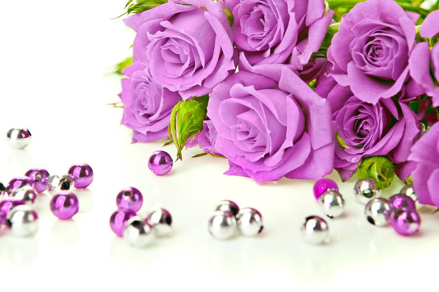 Hoa hồng tím tượng trưng cho tình yêu chân thành và chung thủy