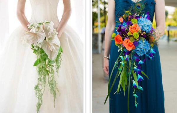 Hoa cưới thác đổ cho cô dâu duyên dáng