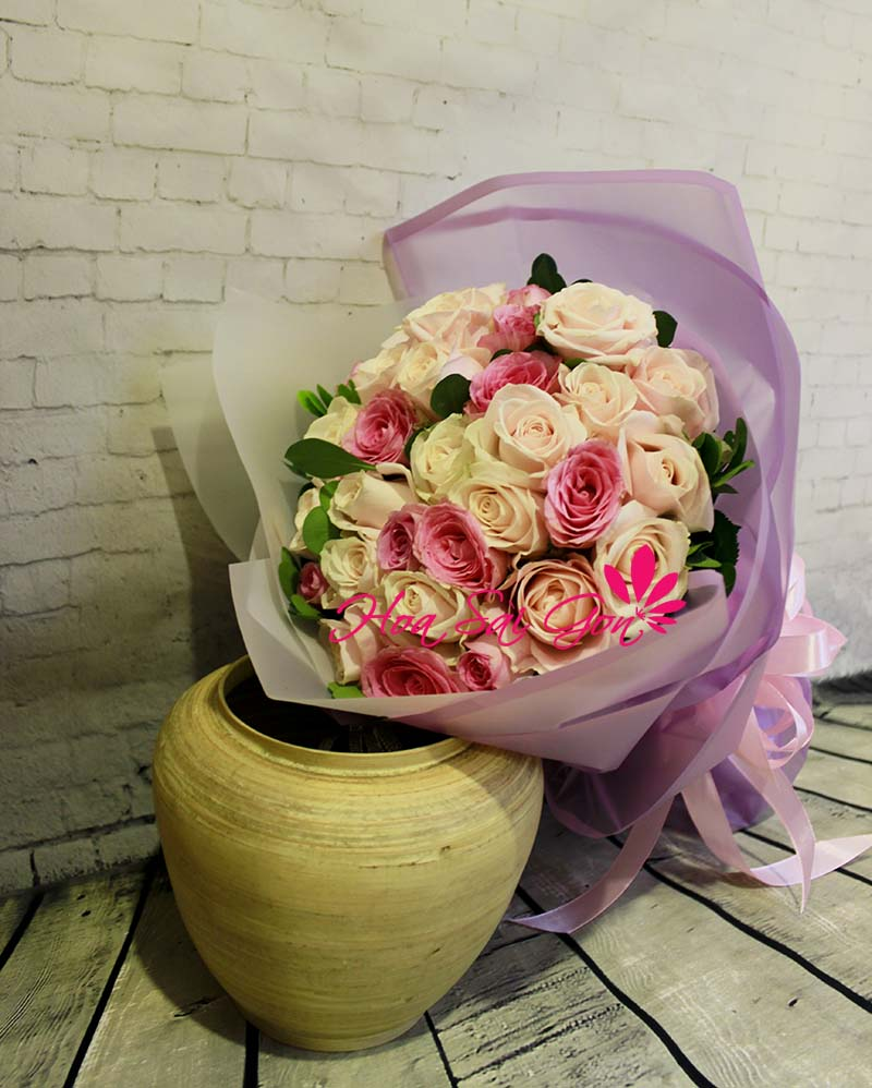 Bó hoa theo phong cách nhẹ nhàng và êm đềm