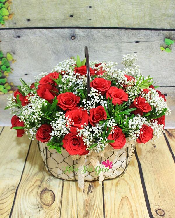 Giỏ hoa Người tôi yêu HSG235