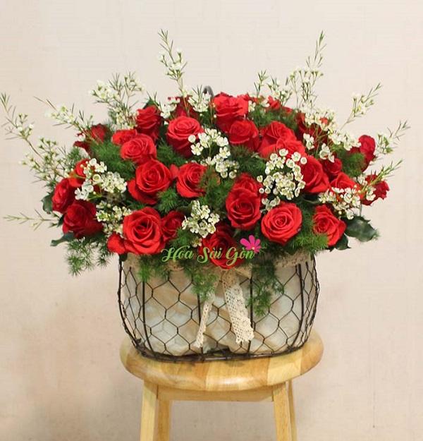 Giỏ hoa Tình say đắm đánh gục mọi con tim